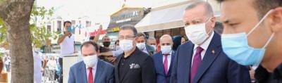 Cumhurbaşkanı Erdoğan Eyüpsultan'da